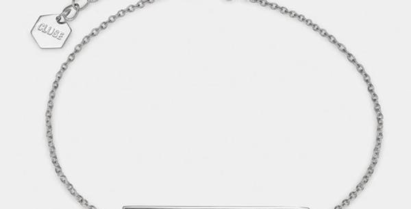 Cluse - Idylle Silver Marble Bar Chain Bracelet