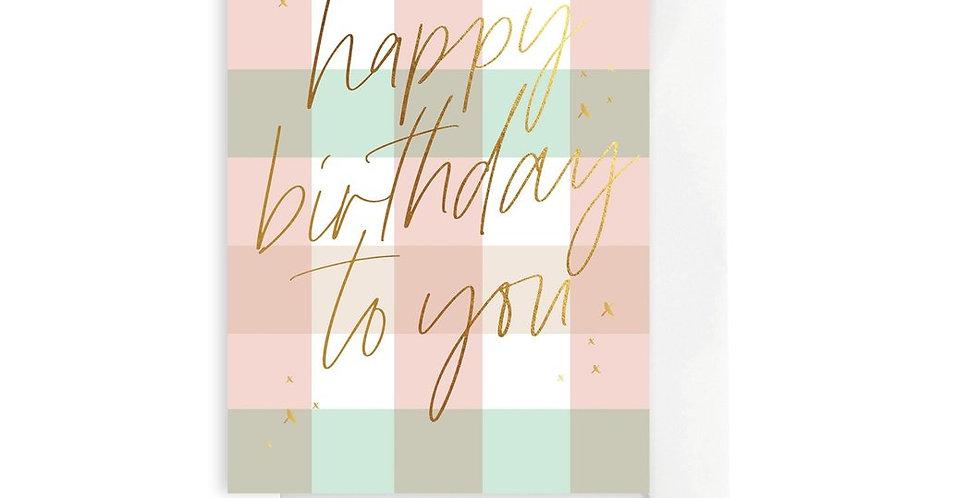 Card - Gingham Birthday Sorbet