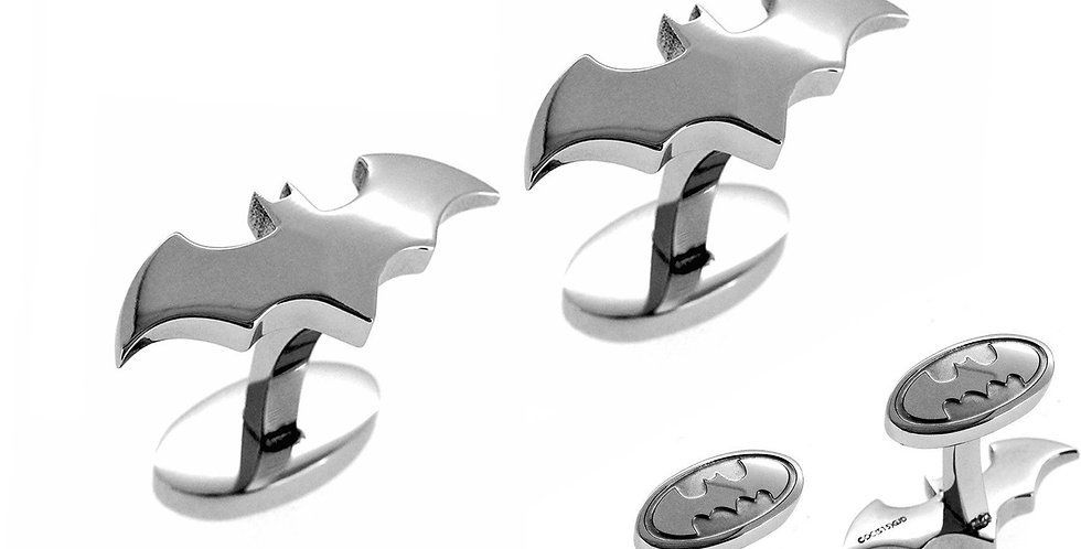 Batman Cufflinks Silver