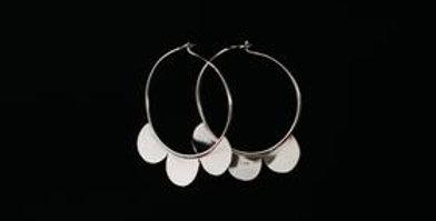 Petal Sleeper Earrings - Silver
