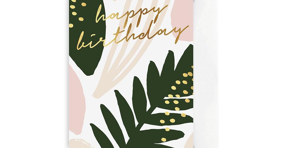 Card - Leaf Happy Birthday