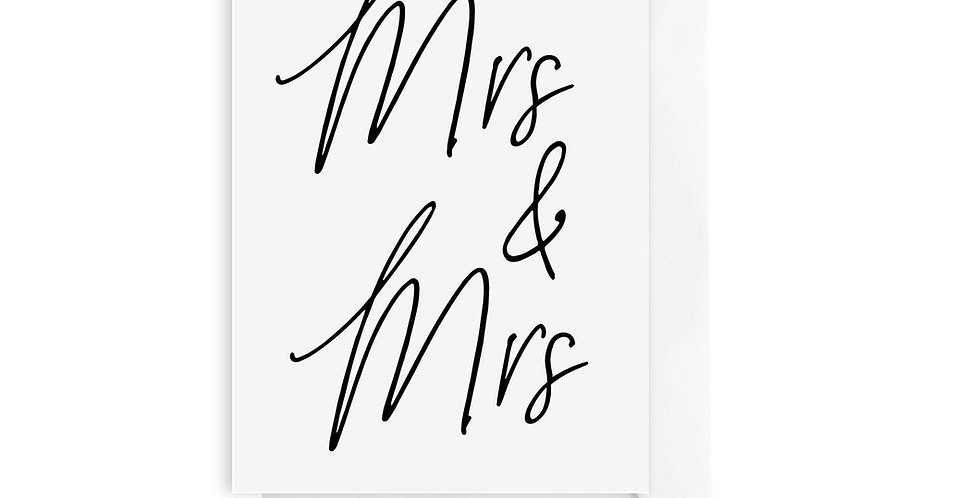 Card - Mrs. & Mrs.
