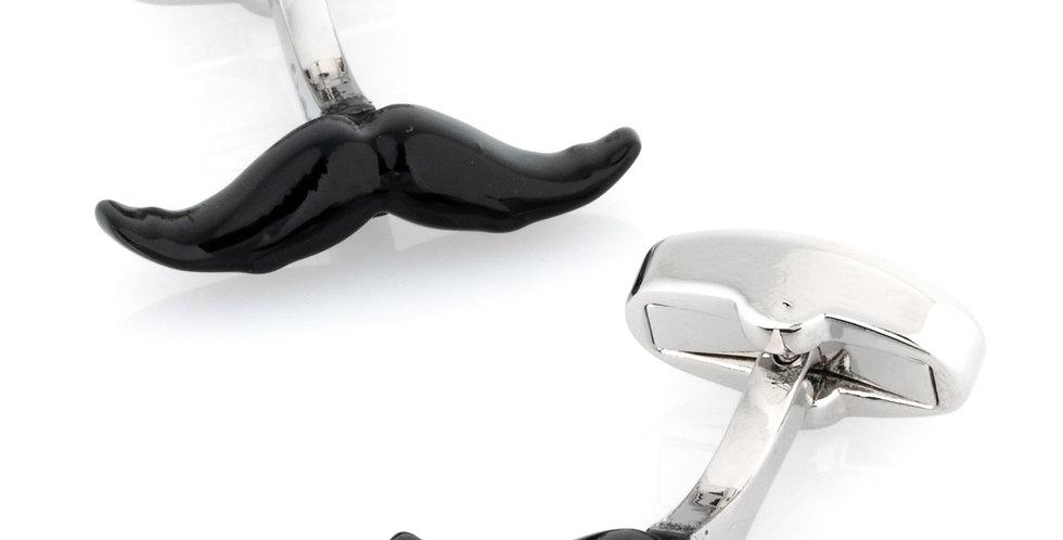 Black Moustache Cufflinks