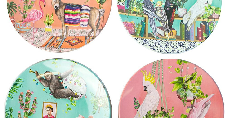 Plate Set - Tropical Abode