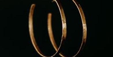 Large Hoop Earrings - Gold