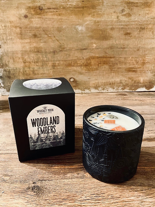 Woodland Embers Wood Wick Candle