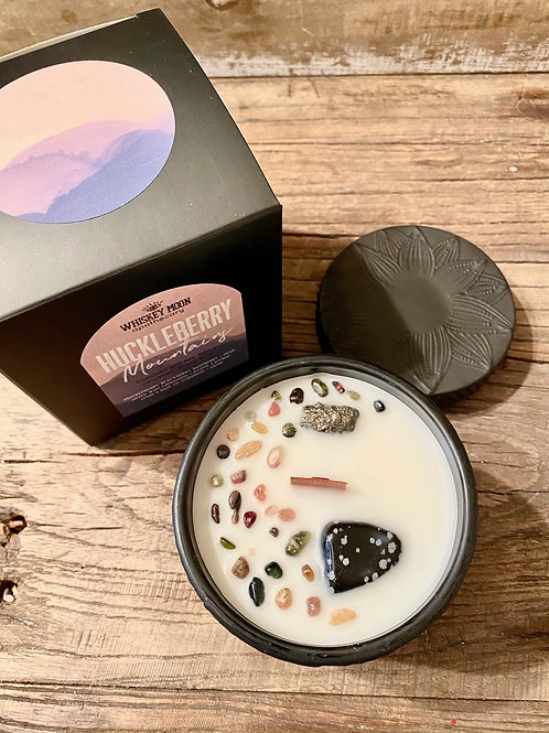 Huckleberry Mountains Wood Wick Candle