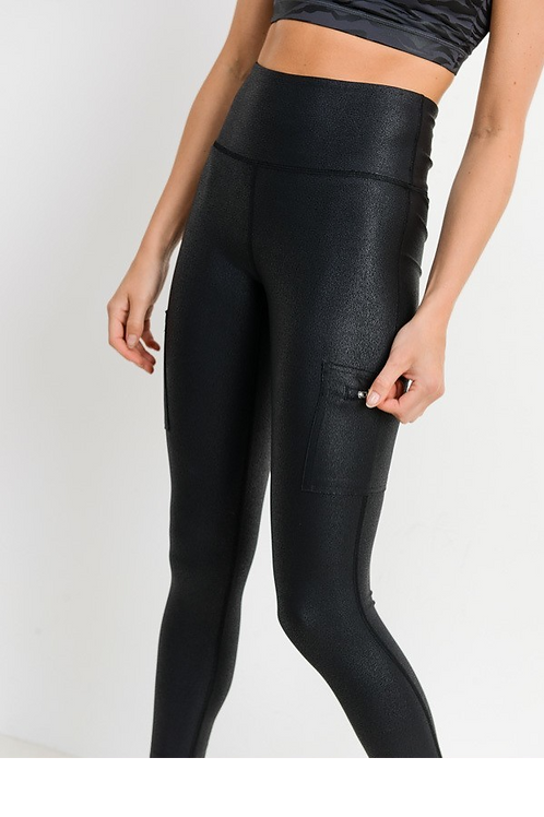 Obsidian Crackle Leggings