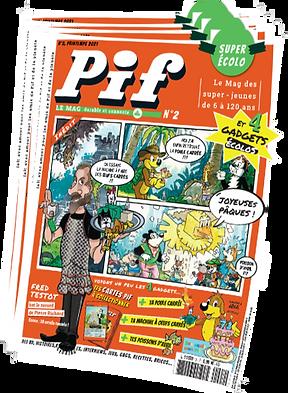 Offre d'abonnement annuel à Pif Le Mag | Ton abonnement débutera dès le numéro 3