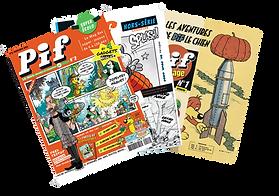 Formule Pif collection digitale (4 numéros + 2 HS + 4 numéro pif vintage)