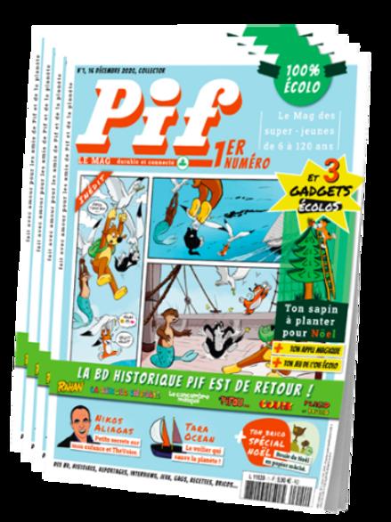 Offre d'abonnement annuel à Pif Le Mag