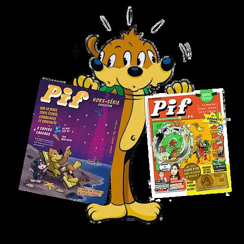 4 Pif le Mag + 2 Hors série   Nouvel abonnement ou offre de Réabonnement