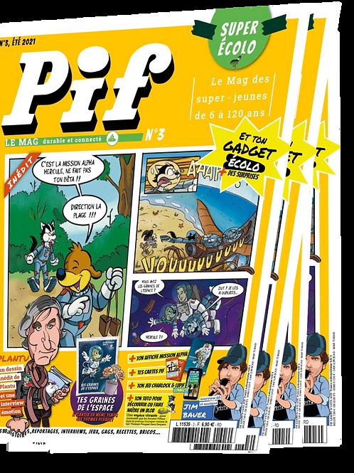 4 Pif Le Mag   Nouvel abonnement à compter du numéro 4  ou offre de Réabonnement