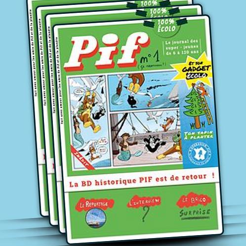 Offre d'abonnement annuel à Pif Journal