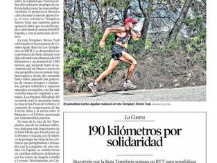 El Heraldo de Soria se hace eco de Templars Xtrem Trail para la mucopolisacaridosis en su contraport