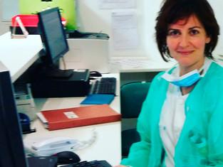 Carmen Rodríguez, enfermera deportiva en Templars Xtrem Trail. Un concepto importante en la atención