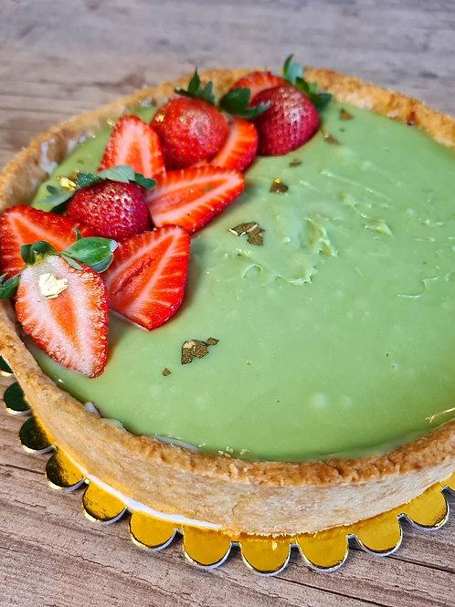 Torta de Pistache com Geleia de Frutas