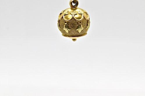 Victorian 12ct Tri-Colour Gold Ball Pendant