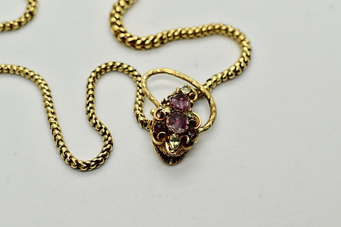 Gold Georgian Snake Necklace