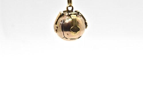 Antique Rose Gold Masonic Ball Cross