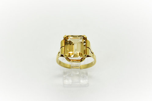 Rare 1940's Golden Beryl Ring