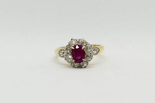 Ruby and Diamond Cluster C.1910