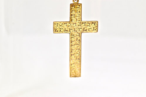 Ivy Leaf Cross 9ct Gold Pendant