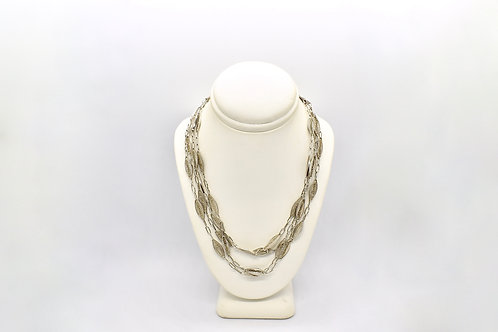French Antique Silver Guard Chain