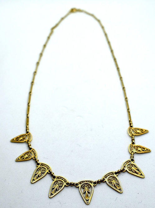 Art Deco Original French 18ct Gold Necklace