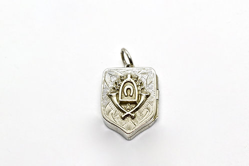 Silver Horseshoe Locket C.1900