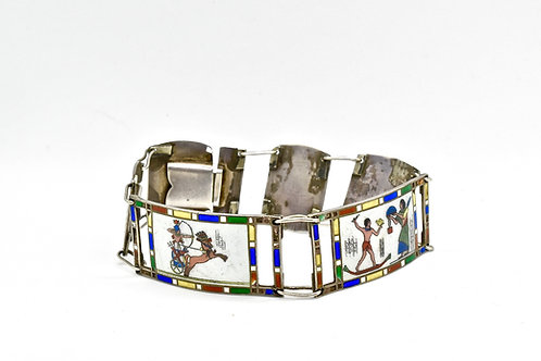 French Egyptian Enamel Bracelet