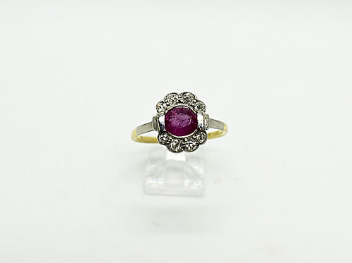 Ruby and Diamond Ring C.1930