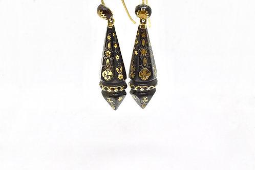 Piqué Victorian Drop Earrings