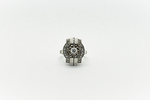 Original Art Deco Platinum Diamond Ring