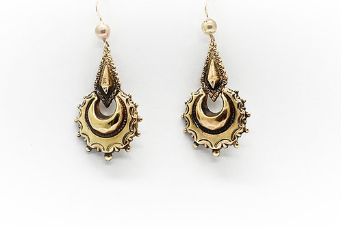 Late Victorian Rose Gold Drop Earrings