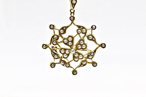 Edwardian Seed Pearl Pendant/Brooch