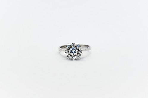 Vintage Diamond Flower Ring