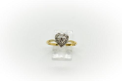 Art Deco Diamond Heart Ring