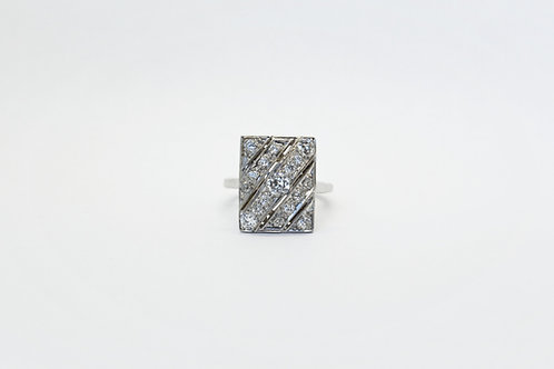 Diamond Plaque Ring C.1950's