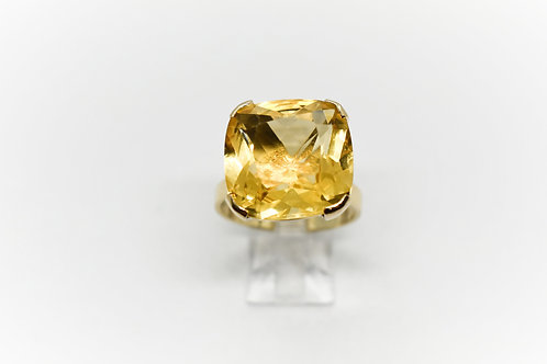 Cushion Cut Citrine Cocktail Ring
