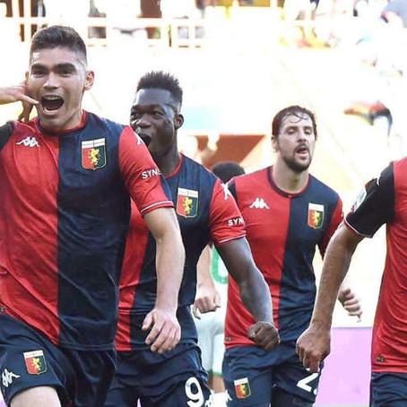 Johan Vásquez le dio el empate al Genoa ante Sassuolo de manera agónica
