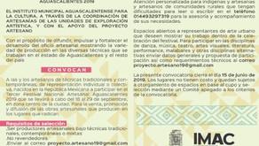 CONVOCATORIA PARA EL TERCER FESTIVAL NACIONAL ARTESANAL AGUASCALIENTES 2019