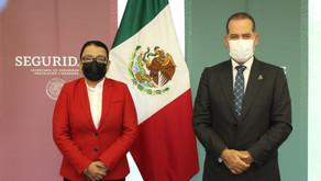 SE REÚNE MARTÍN OROZCO CON SECRETARIA DE SEGURIDAD CIUDADANA Y FISCAL GENERAL DE LA REPÚBLICA