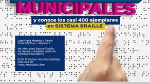 LLEGA ACERVO DE LIBROS BRAILLE A BIBLIOTECAS MUNICIPALES