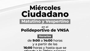 MIÉRCOLES CIUDADANO CAMBIARÁ SU FORMATO; SE LLEVARÁ A CABO EN HORARIO MATUTINO, VESPERTINO