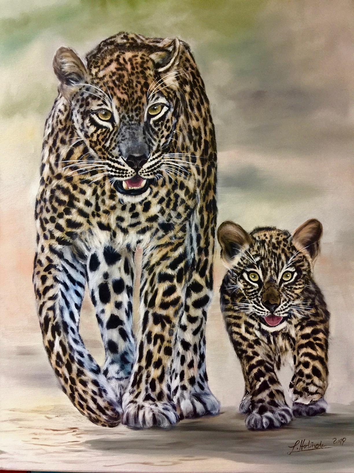 Jaguarmama mit Baby bearb (1)