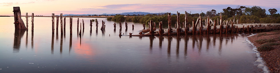 Barge Timbers at Twilight