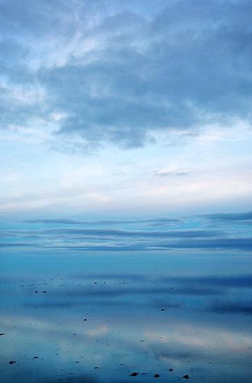 Lake Eyre in Flood, Blue Dawn