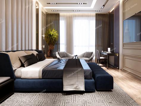 Interior design of a 130m2 apartment from FoxLab interior studio.