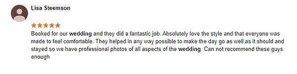 wedding photographer review